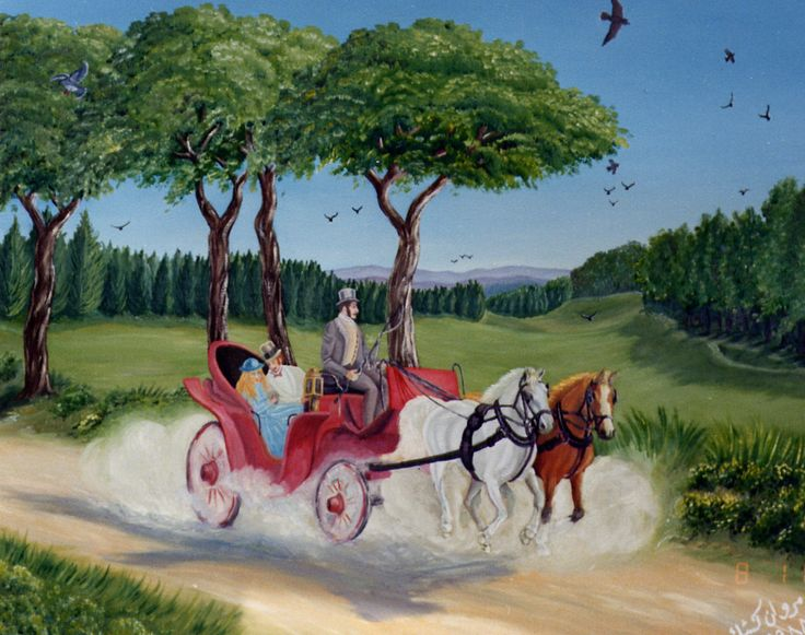 (c) A Carriage Ride by Marwan Kishek - Oil on canvas