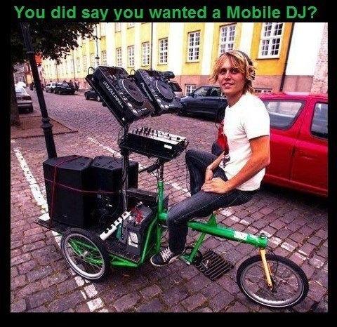Mobile, very mobile DJ!