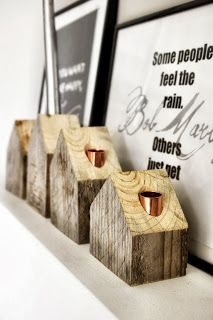 VILLAGE...wooden candleholder by AnyTHING, old pallets