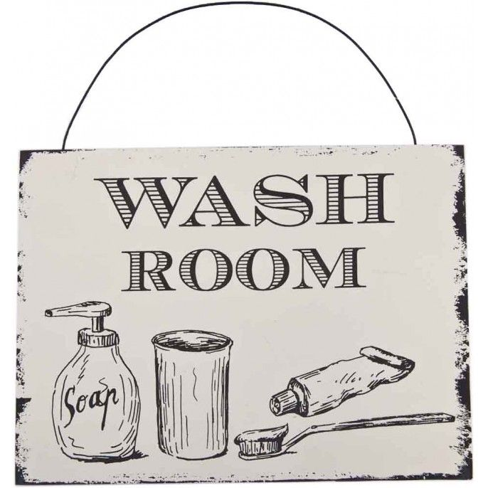 VINTAGE BATHROOM PLAQUE   Poundstretcher. 1000  images about Bathroom Inspiration on Pinterest   Toilets
