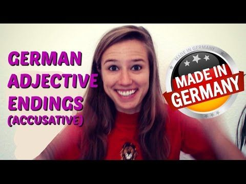 Master the German Adjective Endings in under 3 Minutes - YouTube