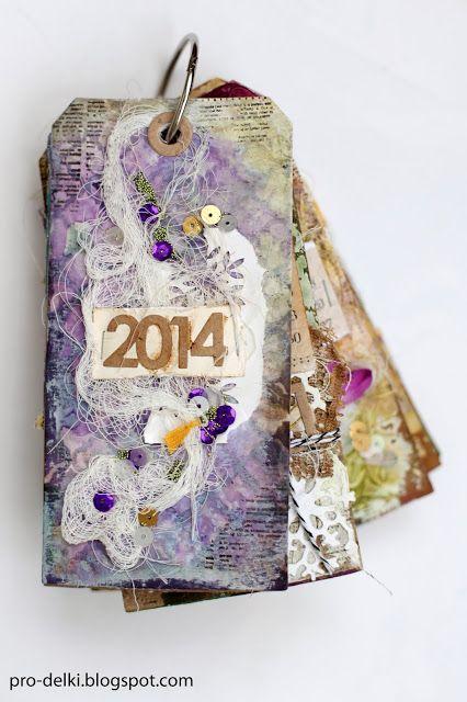 Calendar of tags #scrapbooking #mixed-media #calendar