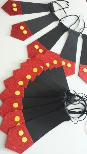 Mickey Mouse Birthday tie. Kids party decor.