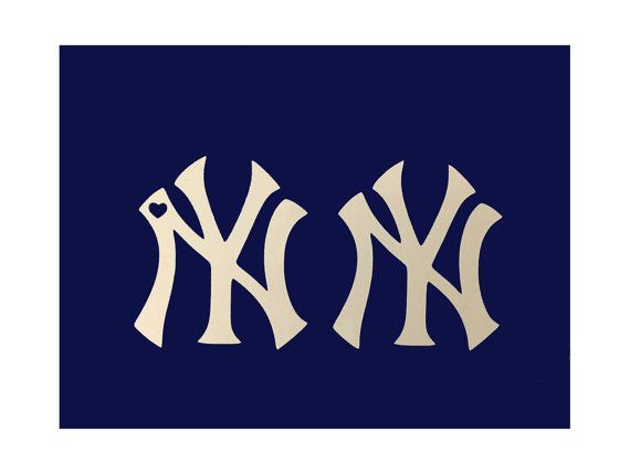 Ny yankees logo decal car computer window decal small