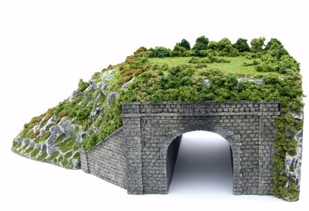 How to make a scenic model rail tunnel