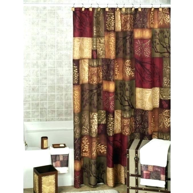 charming rust shower curtains pics