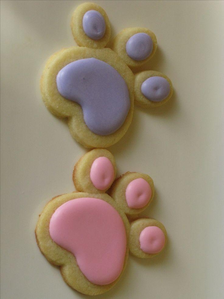 Pink Panther Paw Cookies