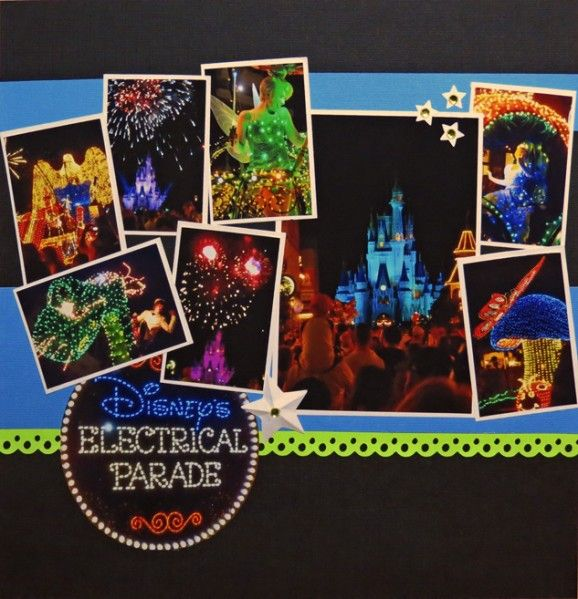 Disney's Electrical Parade Disney scrapbook main street electrical parade layout