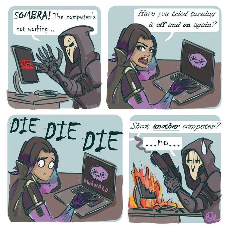 Overwatch Comics,Overwatch,Blizzard,Blizzard Entertainment,фэндомы,Reaper (Overwatch),Sombra (Overwatch)