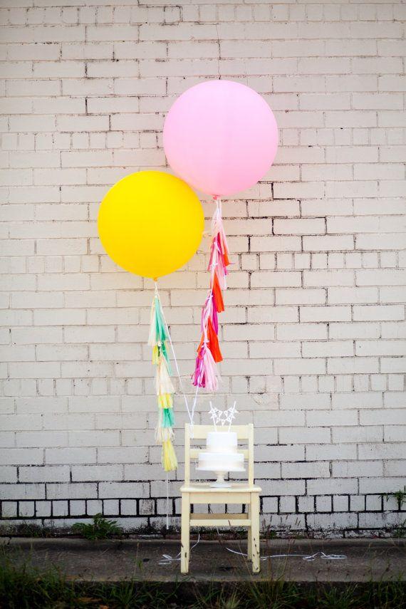 balloon tassels | tuck and bonté