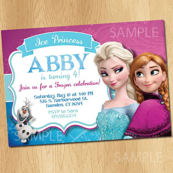 Hey, I found this really awesome Etsy listing at https://www.etsy.com/listing/187515010/disney-frozen-invitation-elsa-anna