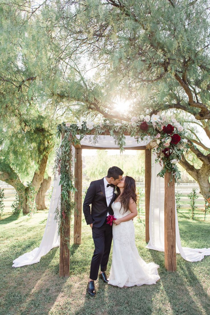 super romantic summer outdoor wedding - maybe an arch like this?
