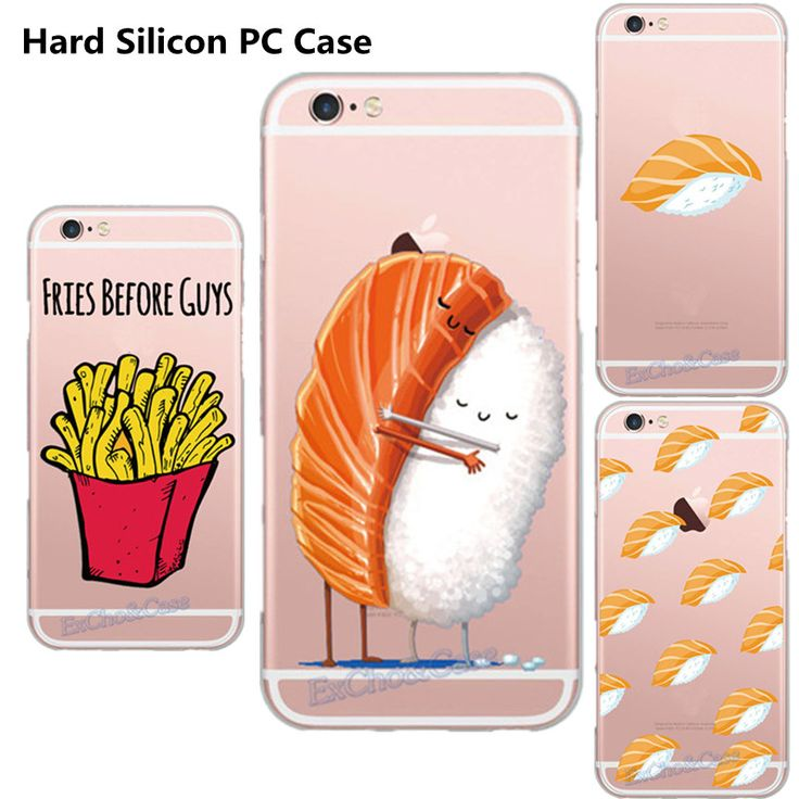 Super Delicious Cute Chips Sushi Case for Apple iPhone 5 5s SE 6 6s 7 Plus PC High Quality Skin Shell Capa Plastic Hard Gel(China (Mainland))