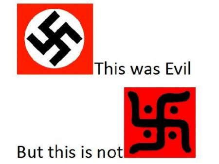 Image result for difference between hindu swastika and nazi swastika
