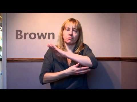How to sign colours in British Sign Language (BSL)