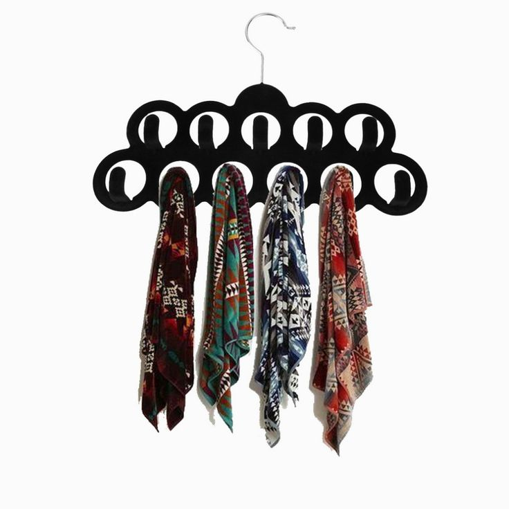 Бархат шарф галстук шкаф вешалка полкодержатель 11 кольца с крючками 3 Pack купить на AliExpress