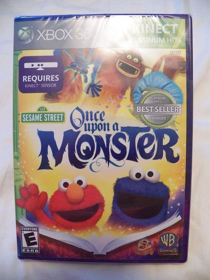 Sesame Street: Once Upon a Monster  (Microsoft Xbox 360, 2011) KINECT GAME - NEW