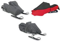 Snowmobile covers for Polaris 600 Switchback or Pro R 2012 to 2014 snowmobiles. Choice of covers include the custom fit, the total cover and the universal fit cover.