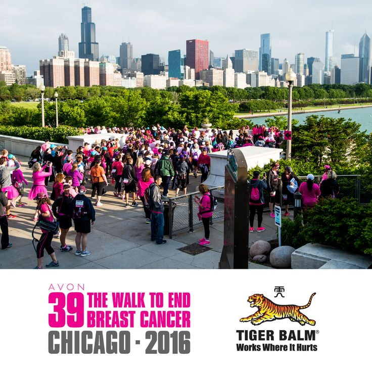 Tiger Balm has been a proud sponsor of AVON 39 The Walk to End Breast Cancer for the past five years!  If you're at the Chicago event this weekend, be sure to stop by our tent to say hi and to pick up some free samples! 💪 🐯  #‎PowerOf39 #‎Avon39