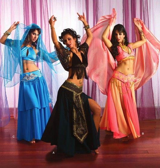 BELLY DANCER Costume Pattern - Gypsy Dancers - Halloween Costumes