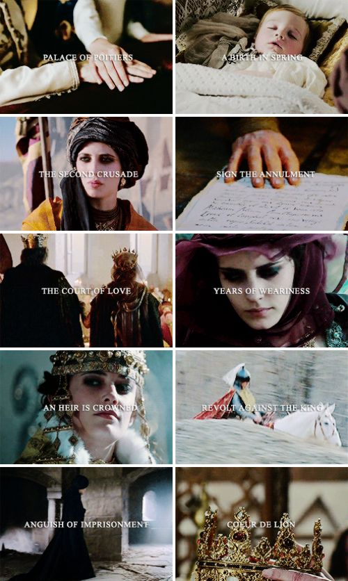♛ A L I E N O R - a television adaptation with Eva Green as Eleanor of Aquitaine; 10 episodes from 1137 to 1189 showing key events in the reign of Eleanor of Aquitaine, one of the most powerful women of the Middle Ages. Duchess of Aquitaine in her own right, she would go onto become queen-consort of France and later queen of England. [x]  Eleanor was a mature woman, mother, and grandmother. She exhibited great tenacity, political wisdom and amazing energy well into her 80s. With the well…