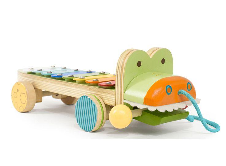 Skip Hop xylofon i trä, krokodil