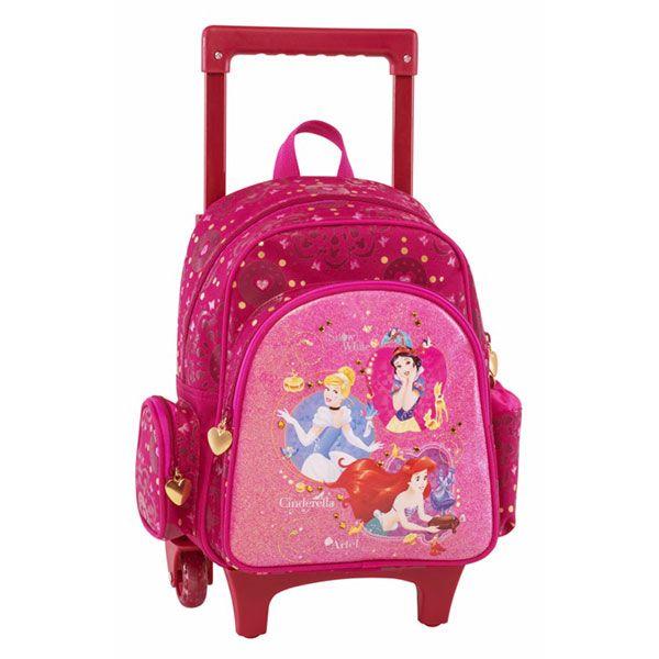 Princess Σχολική Τσάντα Νηπιαγωγείου Trolley