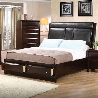 coaster fine furniture phoenix storage bed coasterfurniture rh pinterest com