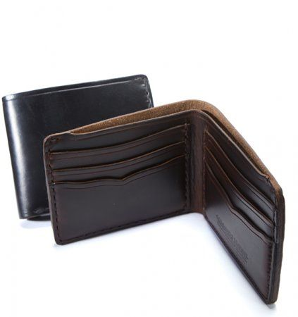 Horween Horsehide #42 Wallet  Our #Horween® Horsehide wallets are thicker than your average #wallet, but they will flatten and soften nicely with use. The rich patina that #Horween® Horsehide develops is like no other leather. You will feel the quality every day you put the wallet in your hands.