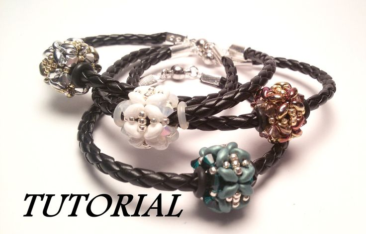 TUTORIAL bracciale con PANDORA di Superduo e Swarovski | Beaded bead bra...