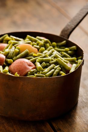 Paula Deen Green Beans with New Potatoes