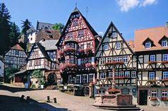 Fachwerkhäuser am Marktplatz in Miltenberg