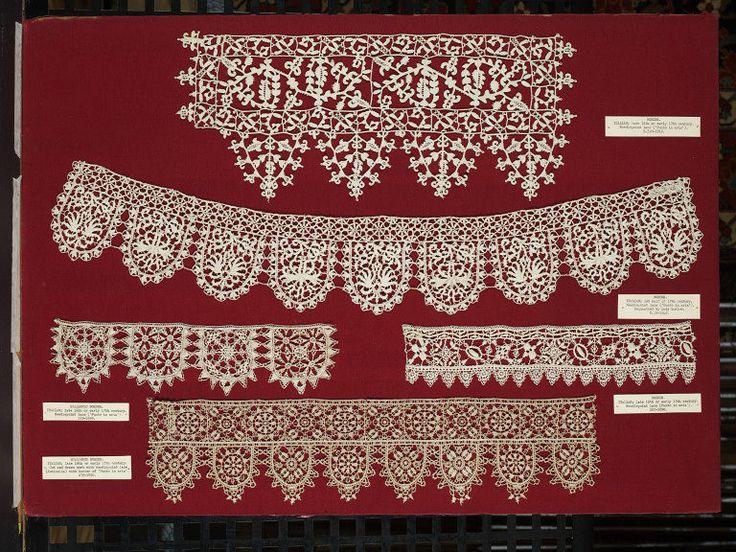 Italian Punto in aria needle lace 1600-1629