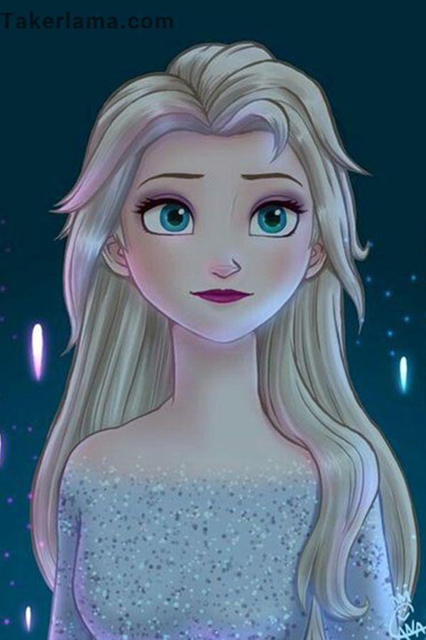 2d Elsa Painting Disney Princess Paintings Frozen Painting Frozen Art