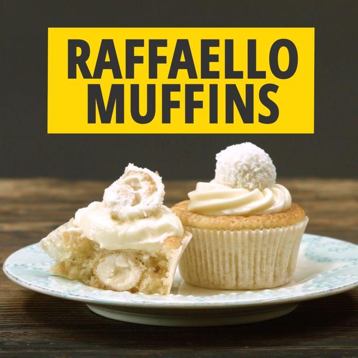 Muffins mit Raffaello-Pralinen