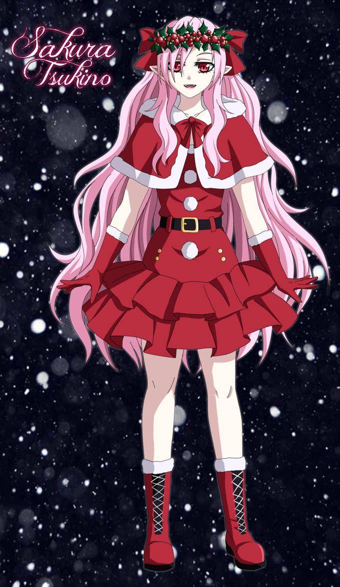 Tsukino Sakura Merry Christmas By Whiterabbit20 Vampire Girls Yandere Anime Sakura