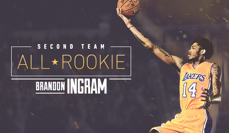 EL SEGUNDO – Los Angeles Lakers forward Brandon Ingram has been named to the NBA's All-Rookie Second Team, it was announced today. This is the third consecutive season that a Laker has been honored with an All-Rookie team selection and Ingram is the fifth Laker in team history (Kobe Bryant and Travis Knight in 1996-97, Nick Van Exel in 1993-94 and D'Angelo Russell in 2015-16) to be awarded Second Team honors.