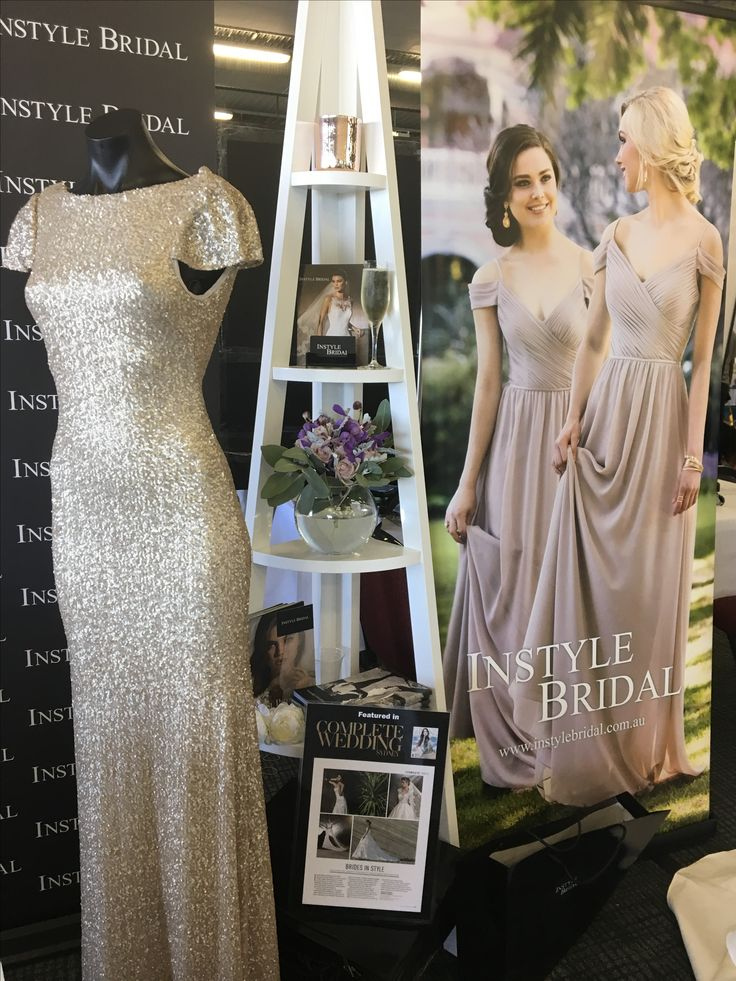 Wedding Expos Australia, Rosehill Racecourse Bridal expo. Essense Australia bridesmaids dresses, sequins cap sleeves, boho chiffon off the shoulder dresses