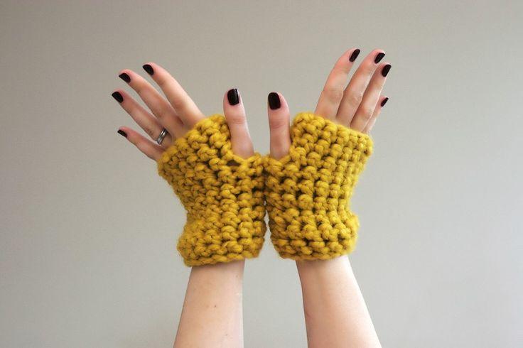 Chunky Crochet Wrist Warmers