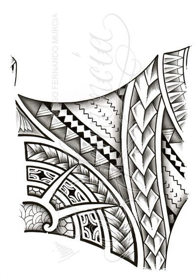 2012, A4 sakura graphic pens, pigma microns and touch marker. Commissioned polynesian 3/4 sleeve tattoo commission design, inner arm side. This is a PAID COMMISSION DESIGN, please DON'T use it or a...