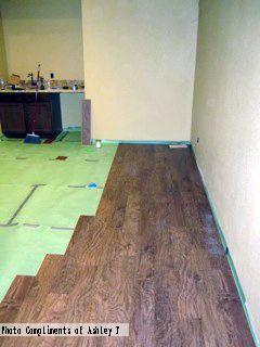 Floor Muffler Underlayment installation Photo Compliments: Ashley F  #underlayment #installation