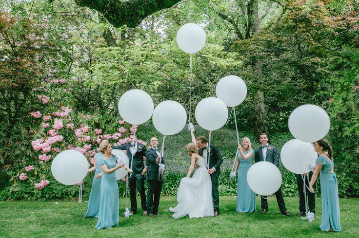 Enchanted forest wedding, balloons, bridal party, Milton park Bowral