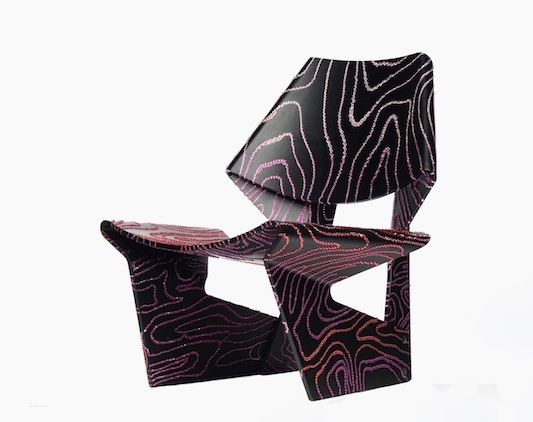 Pink Jalk Project GJ Chair designed by Kelly Wearstler for Swarovski