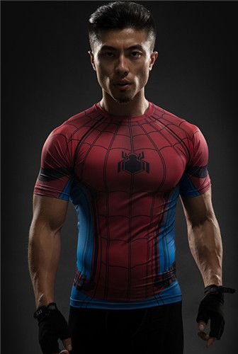10520dcf Product Name: Superhero New Film Superheros Spider-Man 3D Printed  Compression T Shirts Men Quick Dry Sport Fitness Crossfit Clothing Running  Gym-clothing ...
