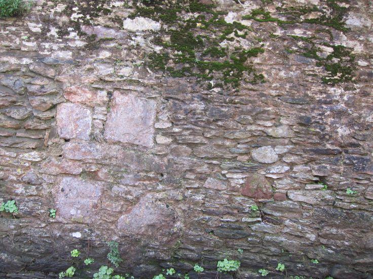 Stoke Gabriel Stone Wall   - Devonian Limestone - New Red Sandstone  - Blue Elvan