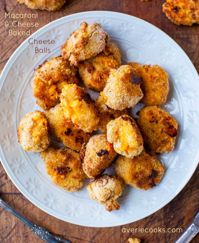 Mac 'n Cheese Baked Cheese Balls. Mac 'n Cheese is breaded & baked for a crispy & crunchy exterior with a gooey mac 'n cheese interior