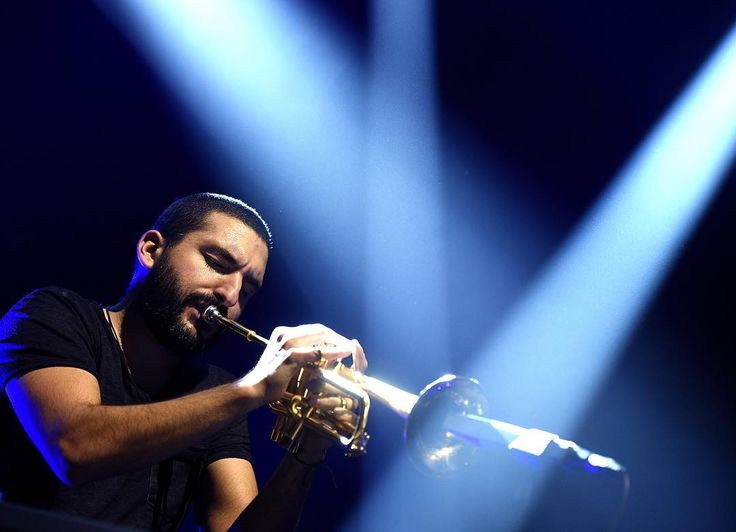Ibrahim #Maalouf était en concert au Zénith de #Lille mardi soir. Une fête généreuse libératrice d'énergies et de sensations. Photo Max Rosereau #lavoixdunord #zenithdelille #musique #npdc #npdc