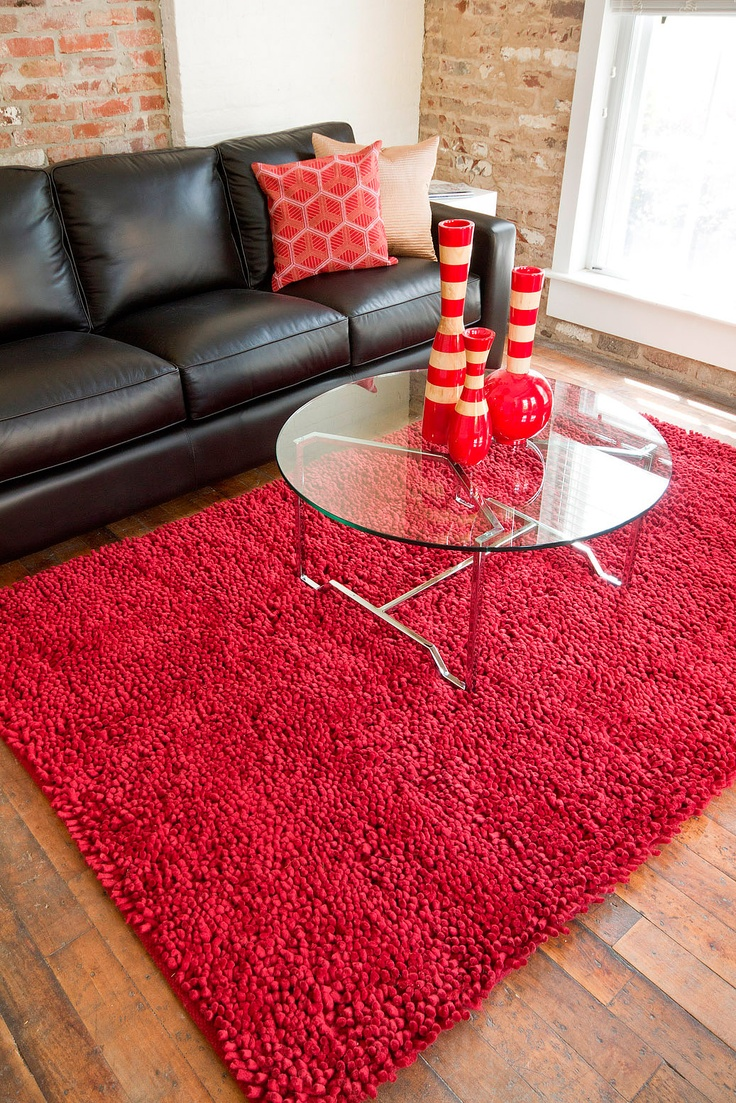 Poppy meets shag!Surya Rugs, Red Poppies, Area Rugs, Aros Rugs, Red Aros