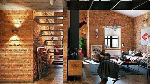Loft con paredes de ladrillo visto mi ideas pinterest - Ladrillo visto interior ...