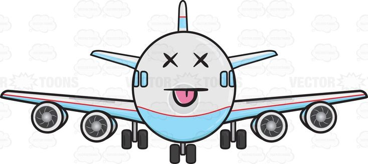 Knocked Out Jumbo Jet Plane Emoji #aeroplane #aircarrier #airbus #aircraft #aircraftengine #airplane #Boeing #carrier #engine #enginepropeller #face #horizontalstabilizer #jet #jetengine #jumbojet #knockout #knockedout #KO'd #landinggear #motor #passengerplane #plane #planeengine #propellers #stabilizer #stickingouttongue #stuckouttongue #tail #tongue #verticalstabilizer #wheels #vector #clipart #stock